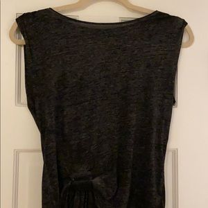 All Saints charcoal grey top. Knot detail in front